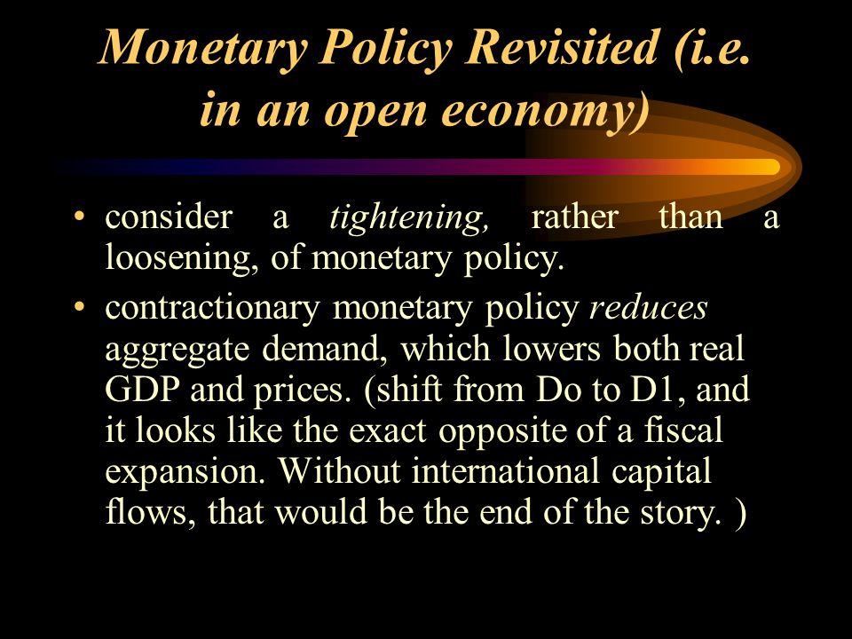 Monetary Policy Revisited (i.e.