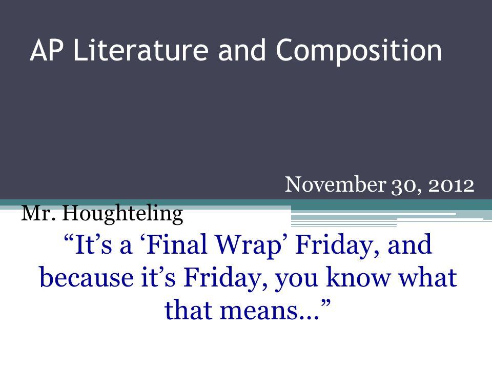 HOMEWORK Write your essay.