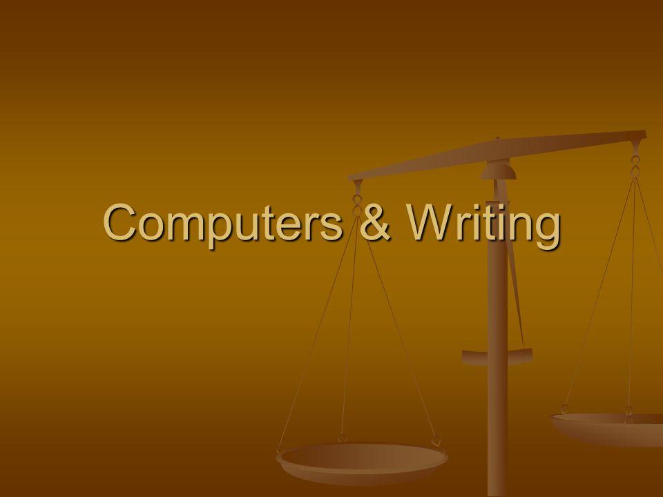 Computers & Writing