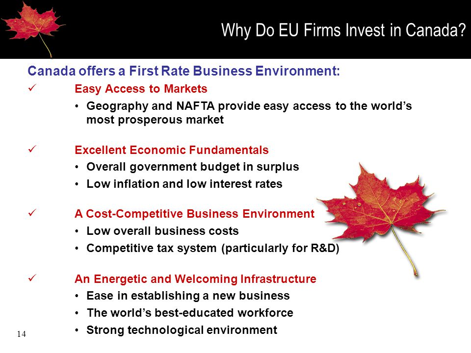 14 Why Do EU Firms Invest in Canada.