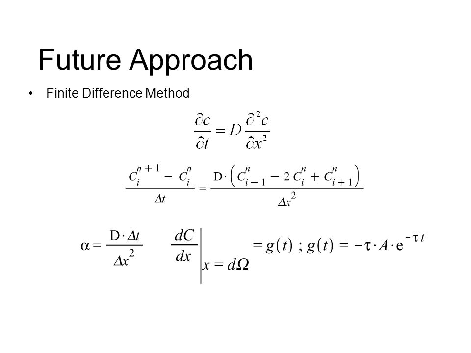 Future Approach Finite Difference Method
