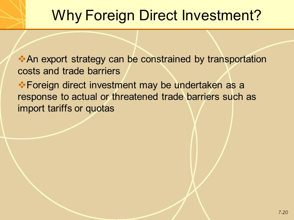 7-20 Why Foreign Direct Investment.