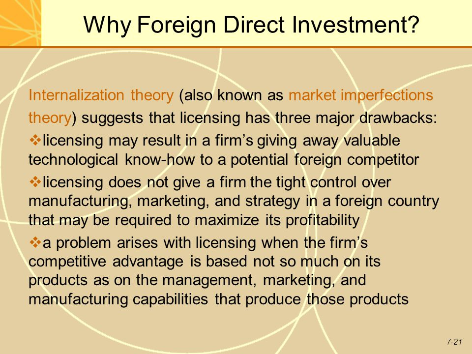 7-21 Why Foreign Direct Investment.