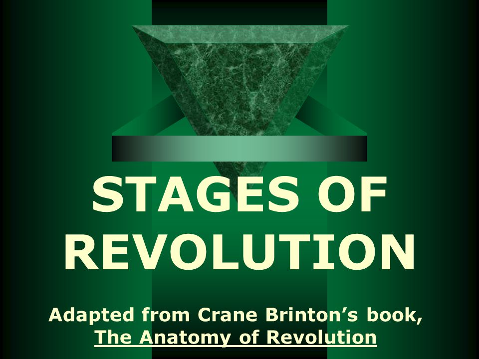 RECOVERY (Convalescence)  Revolution turns inward  Radicals removed –Some killed  Charismatic autocrat comes to power