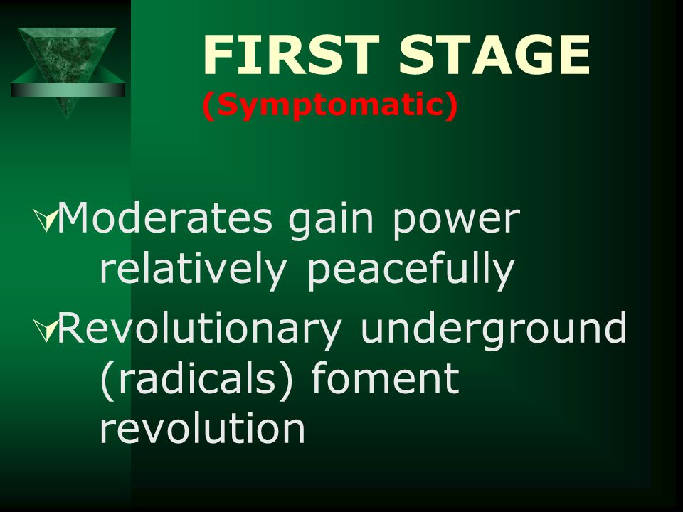  Mob psychology –Ignorant –Emotional –Now wants revenge FIRST STAGE (Symptomatic)