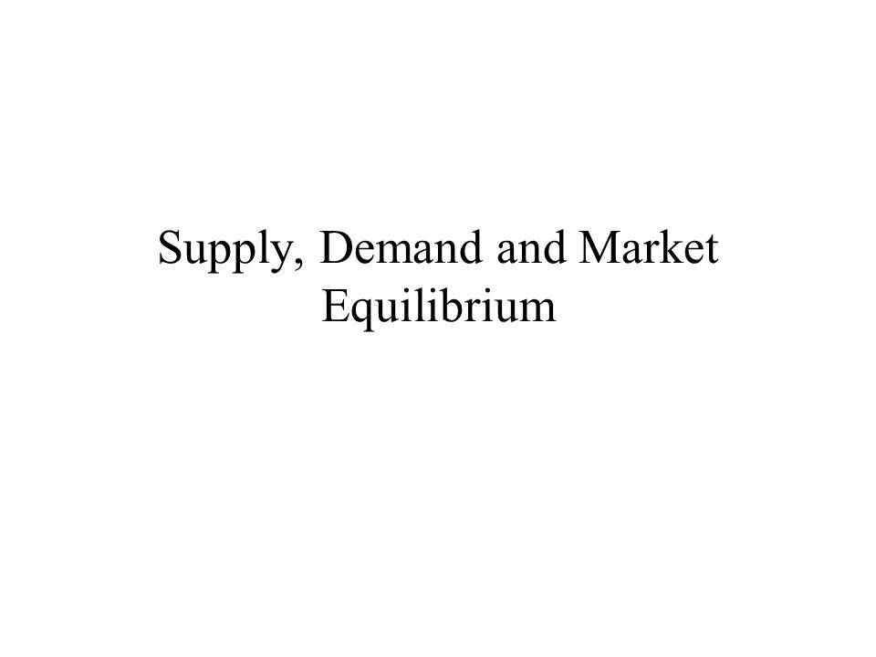 How an Increase in Demand Affects the Equilibrium