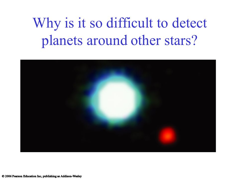 Why is it so difficult to detect planets around other stars