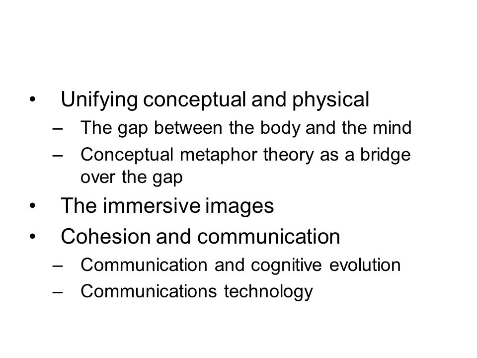 Communications technology {gestures;language /cave paintings; writing; book printing; electronic media; mobile technology} Cognitive evolution {episodic memory; mimesis; language; external symbolic storage system} Group size {from small groups to society}