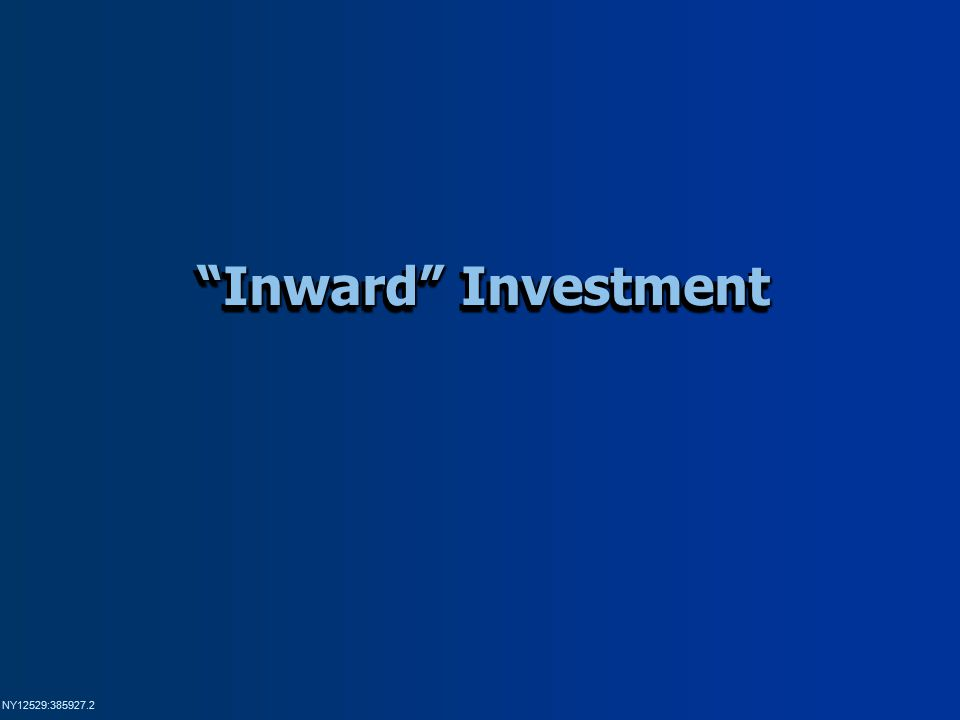 NY12529:385927.2 Inward Investment