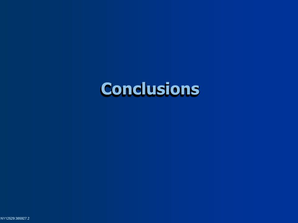 NY12529:385927.2 ConclusionsConclusions