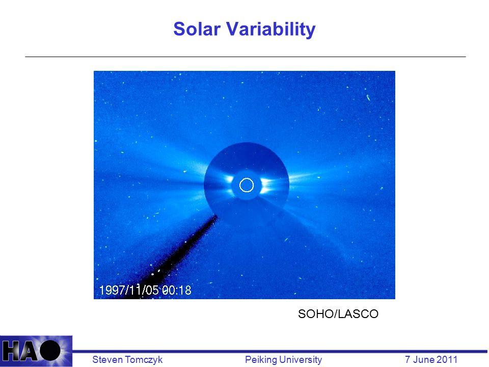 Steven Tomczyk Peiking University 7 June 2011 Solar Variability SOHO/LASCO