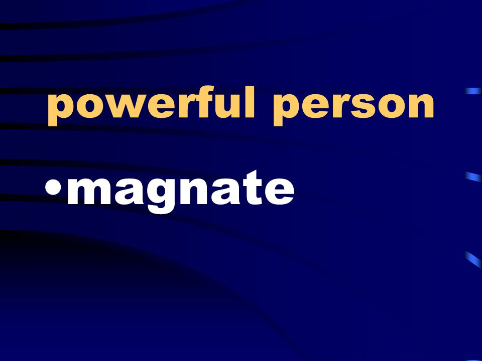 powerful person magnate