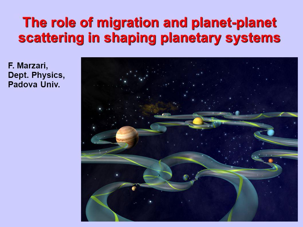 F. Marzari, Dept. Physics, Padova Univ.