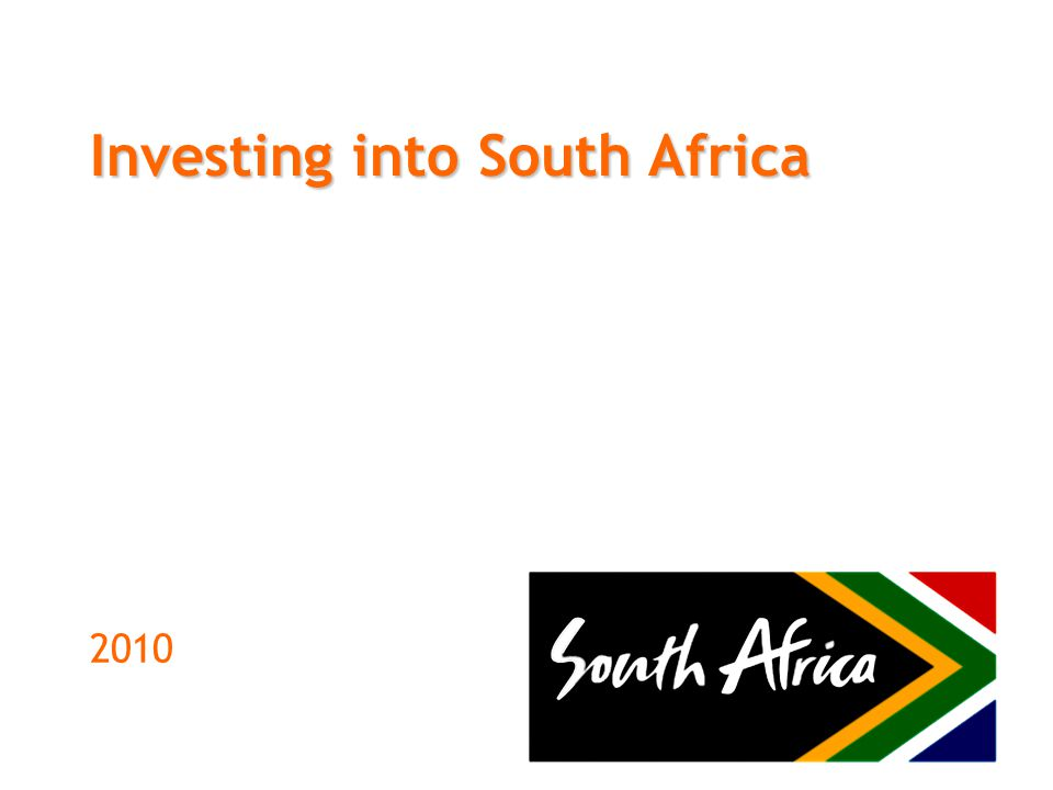 Investing into South Africa 2010