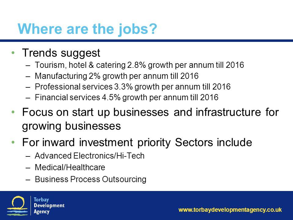 www.torbaydevelopmentagency.co.uk Where are the jobs.