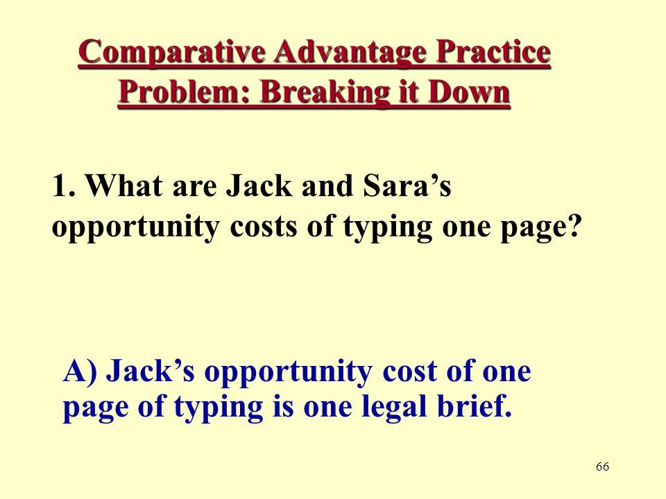 66 Comparative Advantage Practice Problem: Breaking it Down 1.