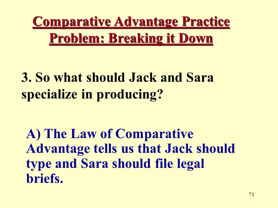 71 Comparative Advantage Practice Problem: Breaking it Down 3.
