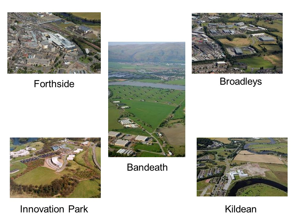 A vibrant city investing in itself £100m investment in six secondary schools Forthbank Sports Village Forthside Burghmuir Retail Park Stirling Agricultural Centre Bannockburn Heritage Centre