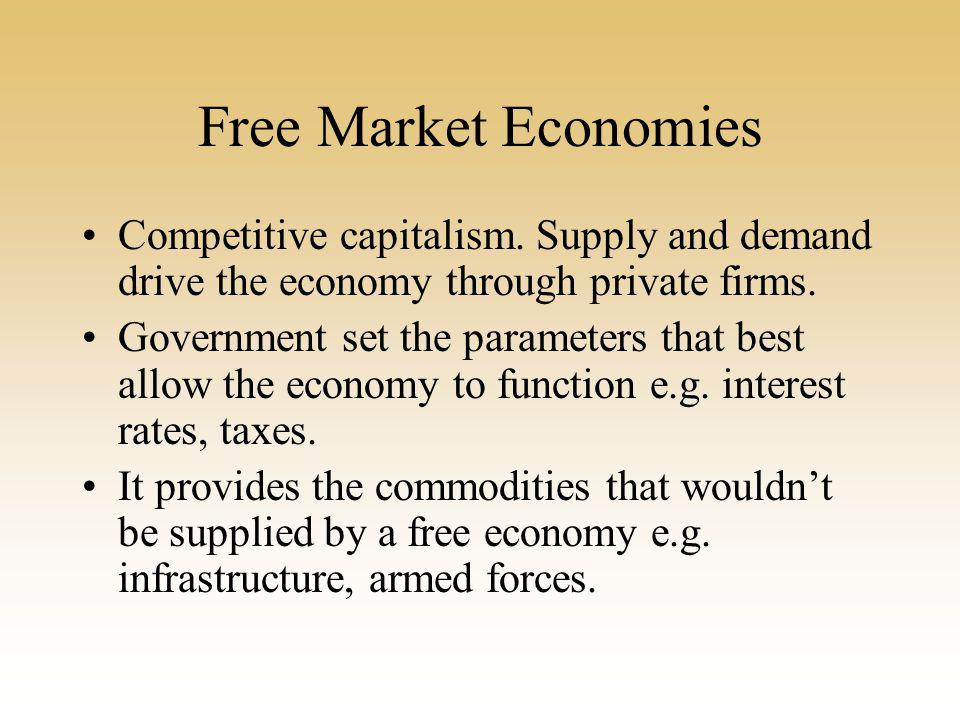 Free Market Economies Competitive capitalism.