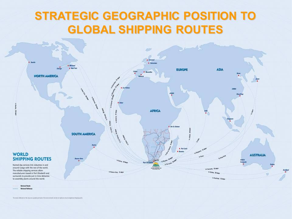 32 STRATEGIC GEOGRAPHIC POSITION TO GLOBAL SHIPPING ROUTES