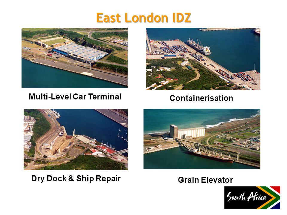 East London IDZ Multi-Level Car Terminal Containerisation Dry Dock & Ship Repair Grain Elevator