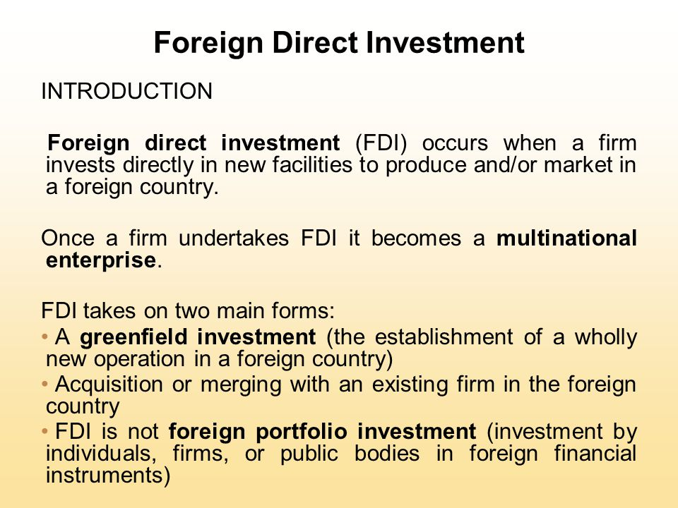 Foreign Direct Investment Limitations of Licensing Internalization theory suggests that licensing has three major drawbacks as a strategy for exploiting foreign market opportunities: licensing may result in a firm's giving away valuable technological know-how to a potential foreign competitor licensing does not give a firm the tight control over manufacturing, marketing, and strategy in a foreign country that may be required to maximize its profitability a problem arises with licensing when the firm's competitive advantage is based not so much on its products as on the management, marketing, and manufacturing capabilities that produce those products