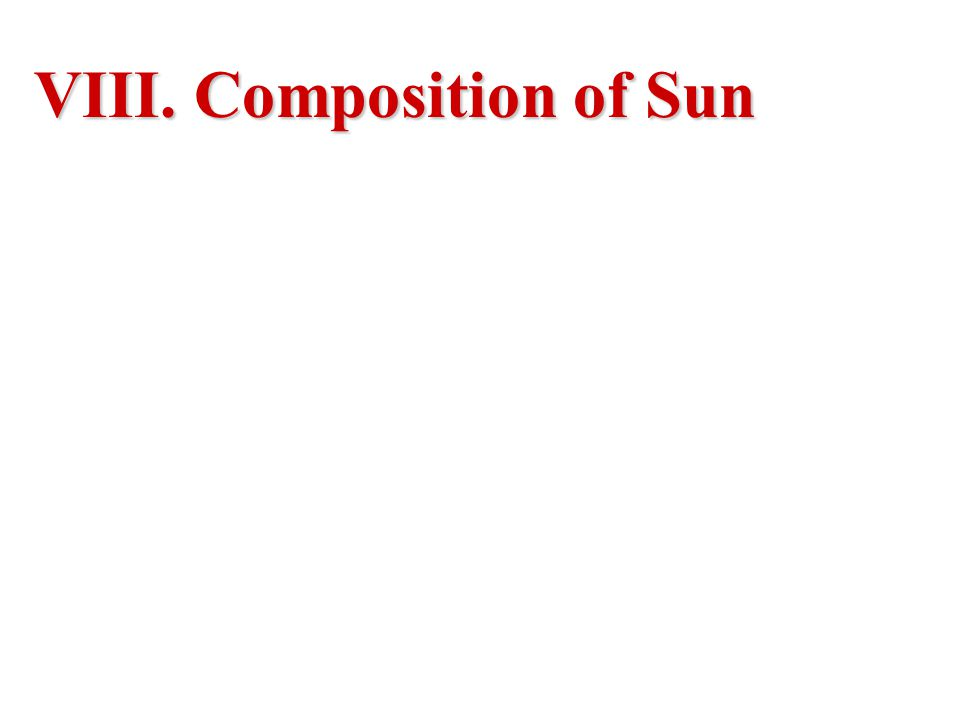 VIII. Composition of Sun