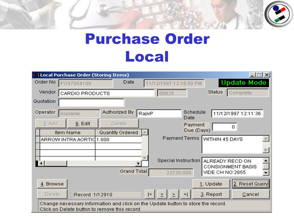 Purchase Order Local