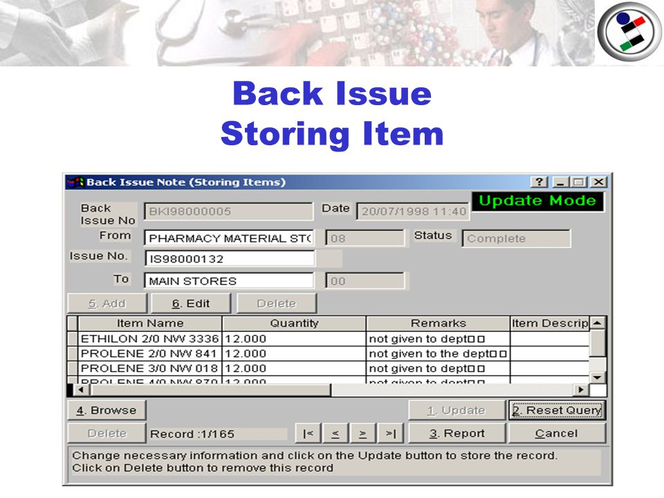 Back Issue Storing Item