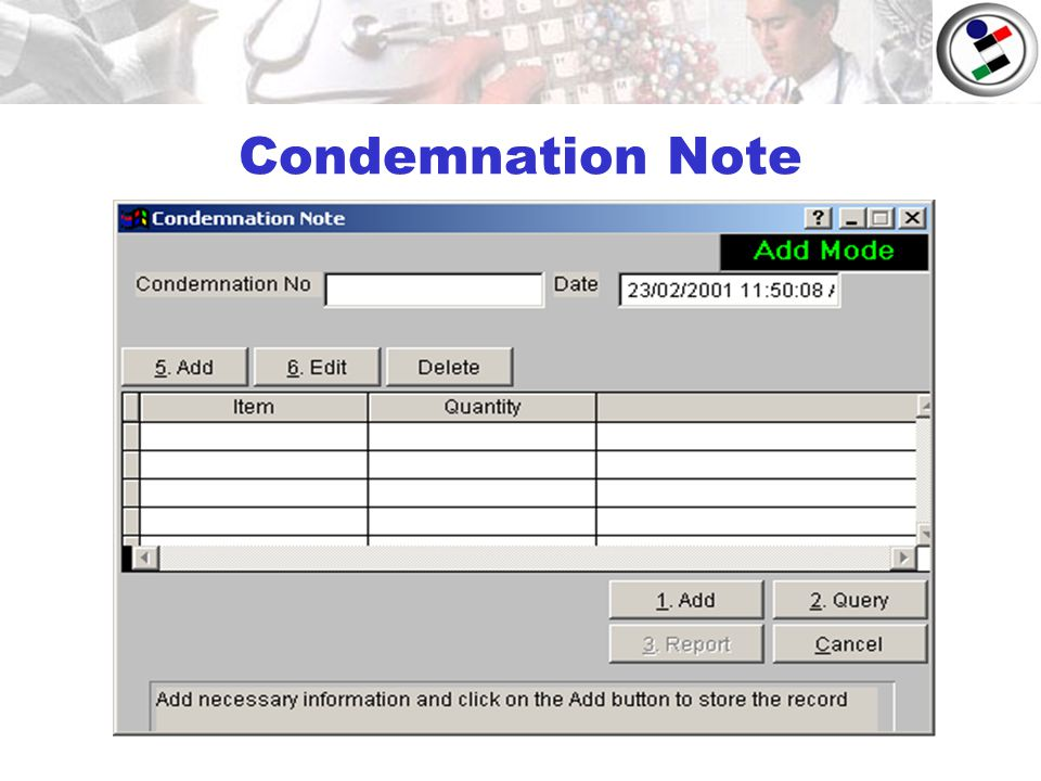 Condemnation Note