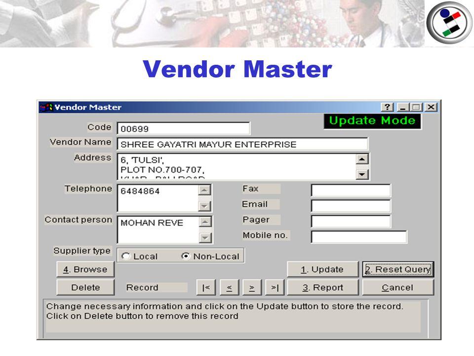 Vendor Master