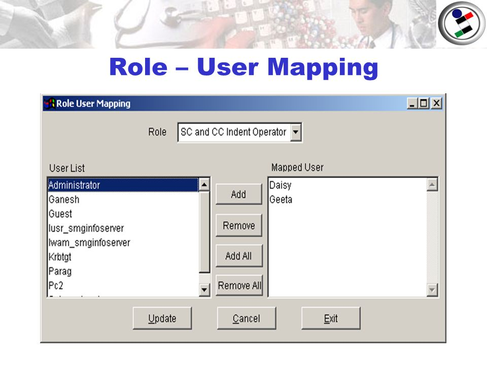 Role – User Mapping