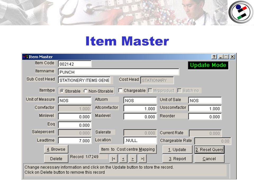 Item Master