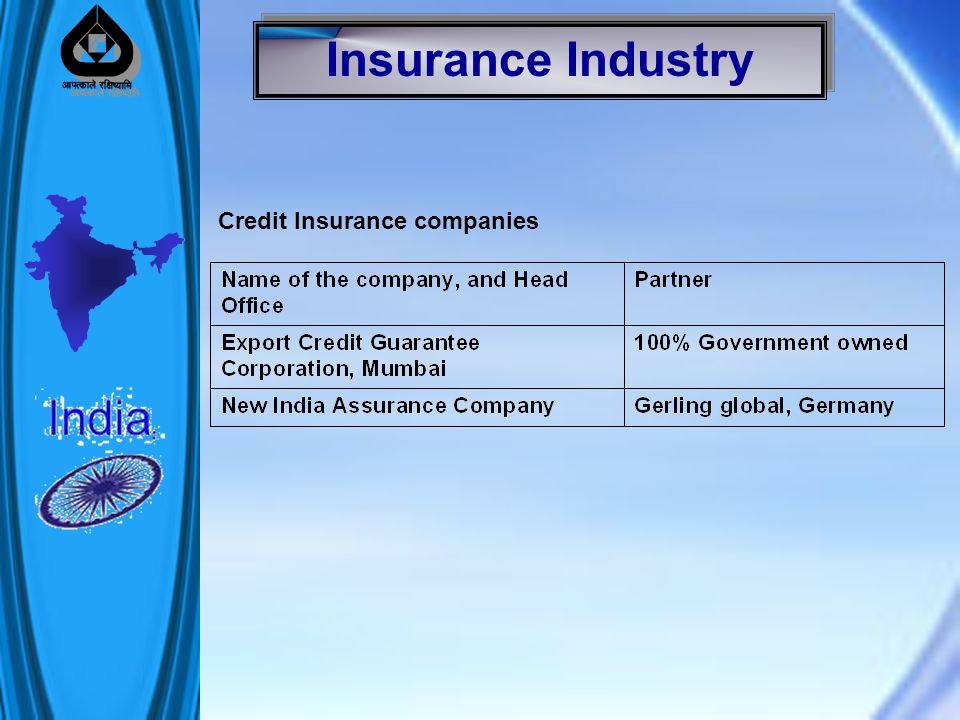 Insurance Industry Credit Insurance companies
