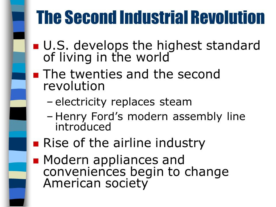 The Second Industrial Revolution n U.S.
