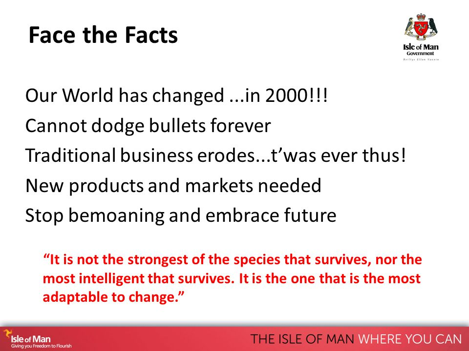 Face the Facts Our World has changed...in 2000!!.