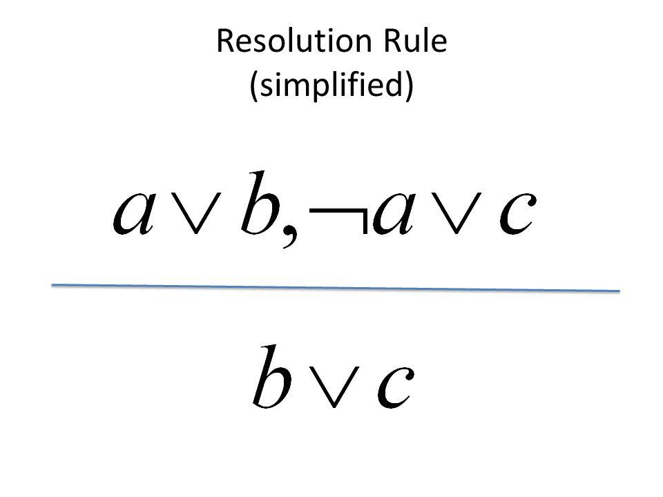Resolution Rule (simplified)