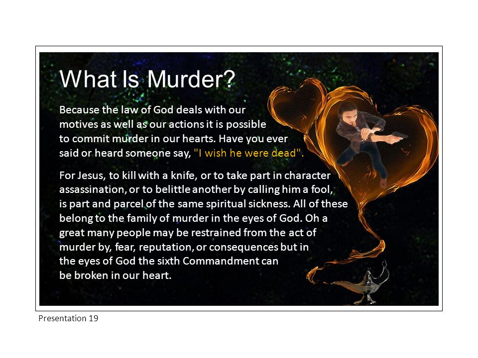 Presentation 19 What Is Murder.