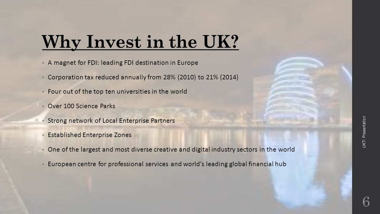 Why Invest in the UK.