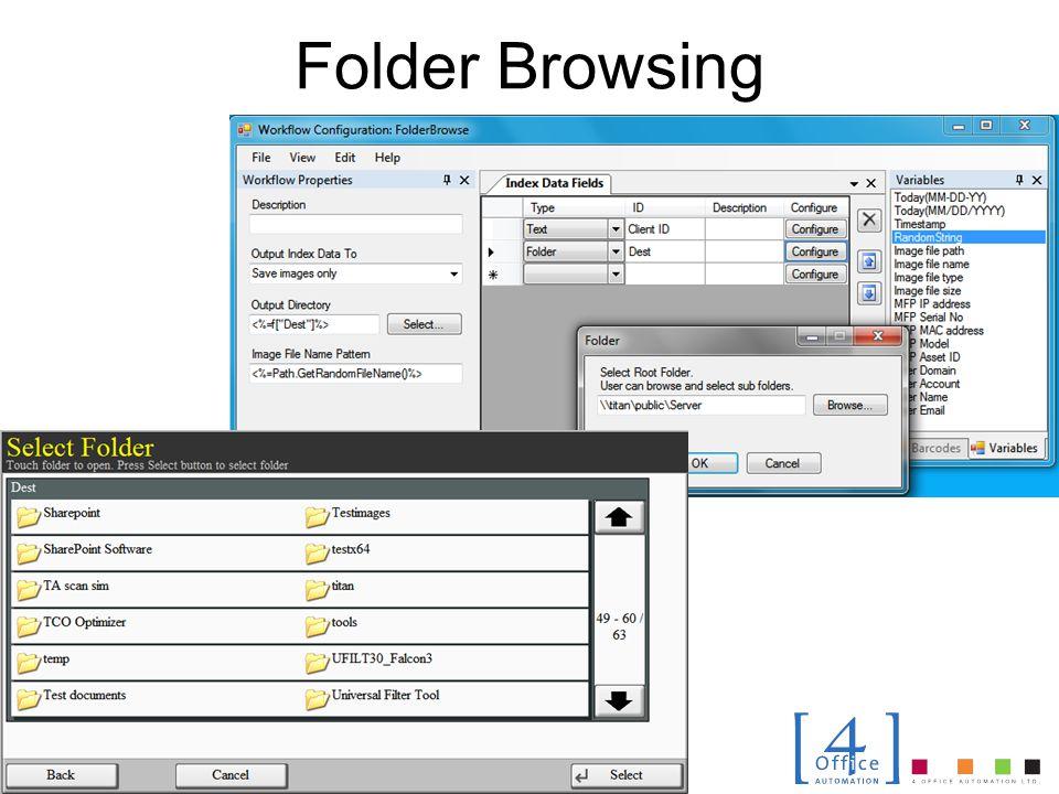 Folder Browsing