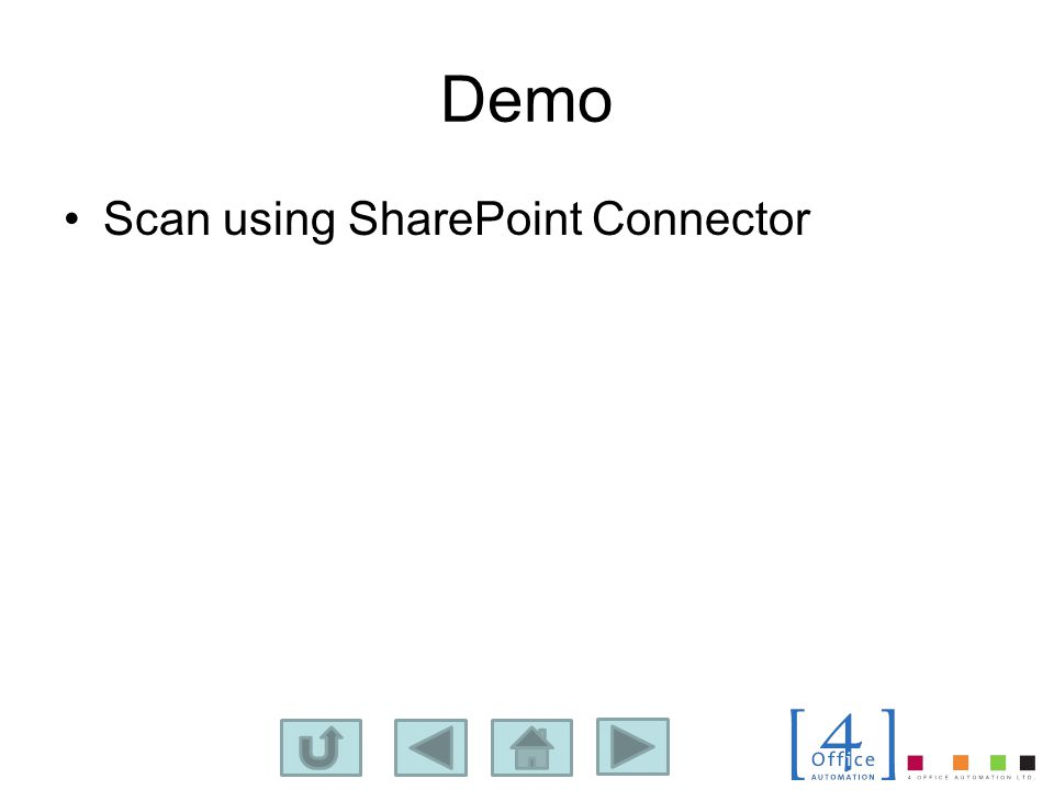 Demo Scan using SharePoint Connector