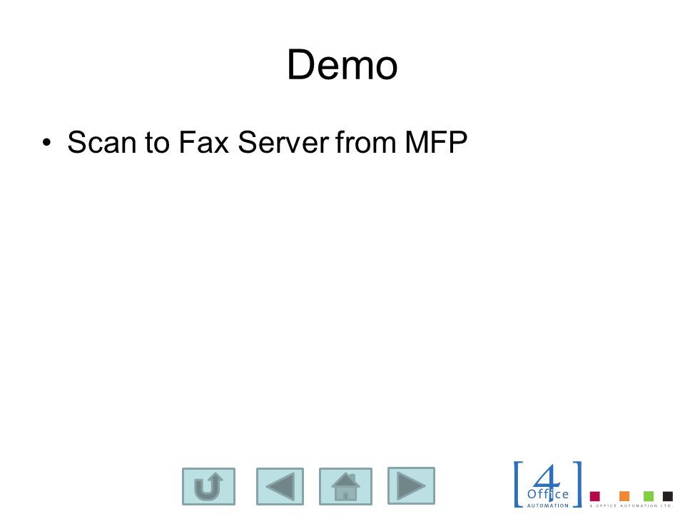 Demo Scan to Fax Server from MFP