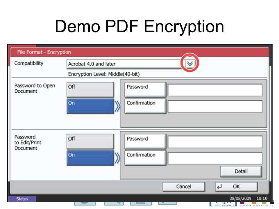 Demo PDF Encryption