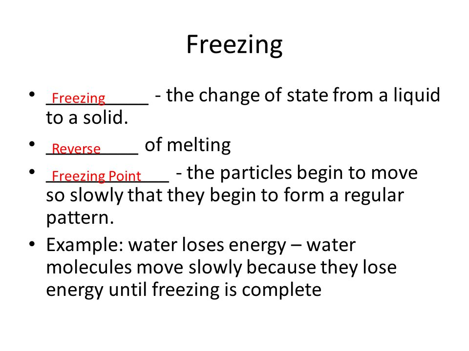 Changes between Liquid and Gas ____________ - the change from a liquid to a gas.