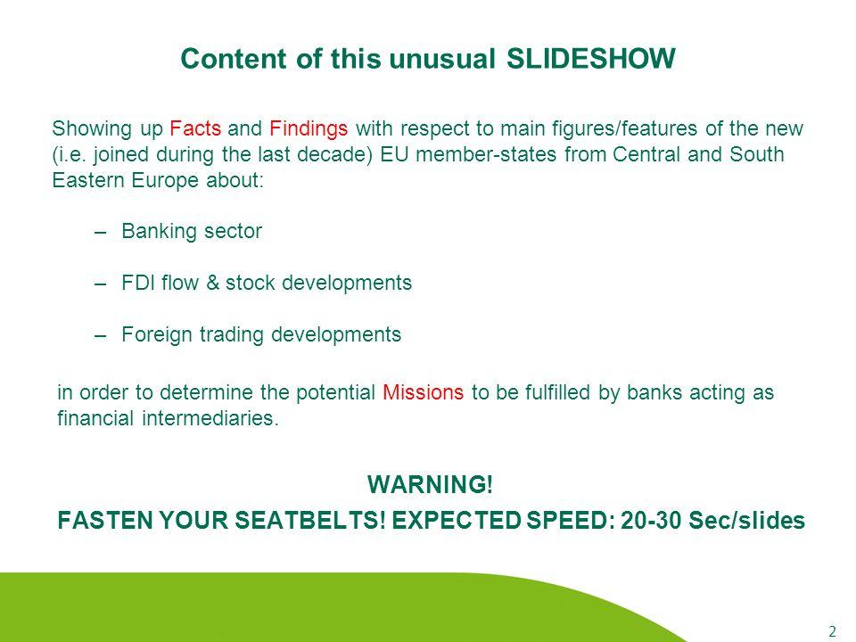 FDI stock and flow developments 23 Inward FDI stock to GDP (%, 2011) Note: intra FDI stocks are included.