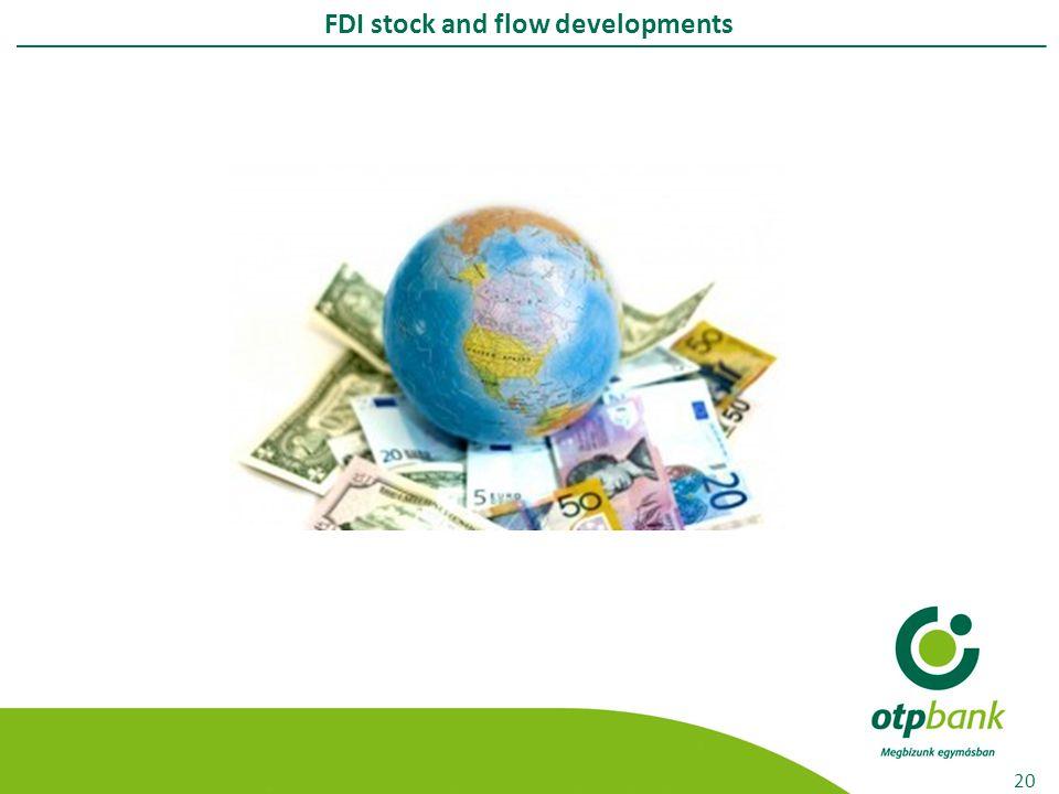 FDI stock and flow developments 20