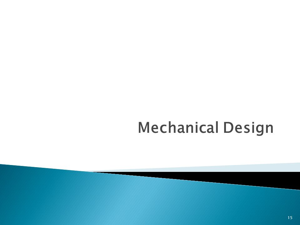 Mechanical Design 15