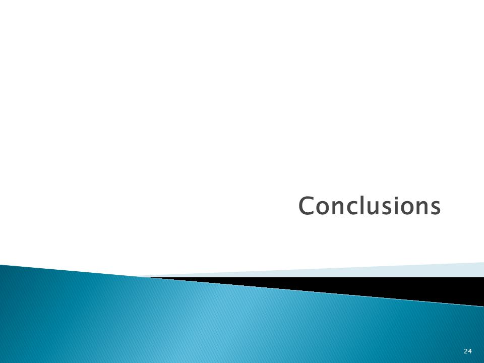 Conclusions 24
