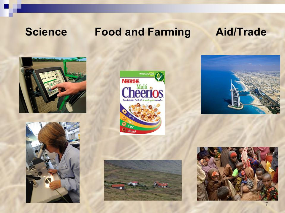 Science Food and Farming Aid/Trade 7