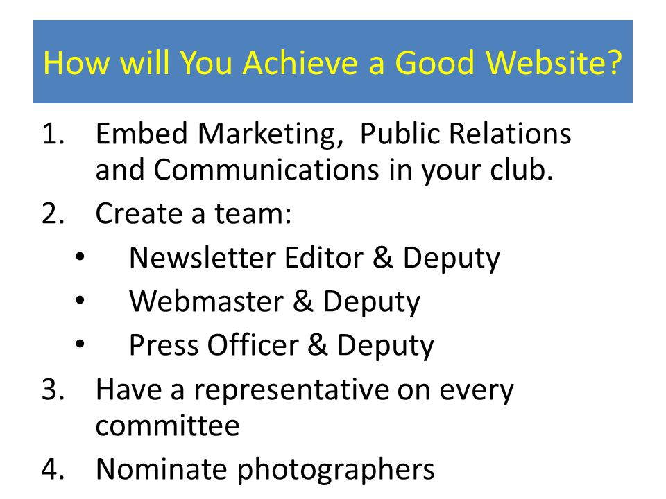 How will You Achieve a Good Website.